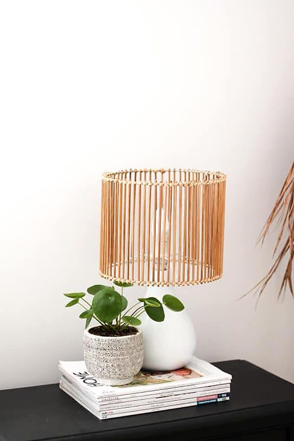 Unique Bamboo Sticks Modern Lamp Shade