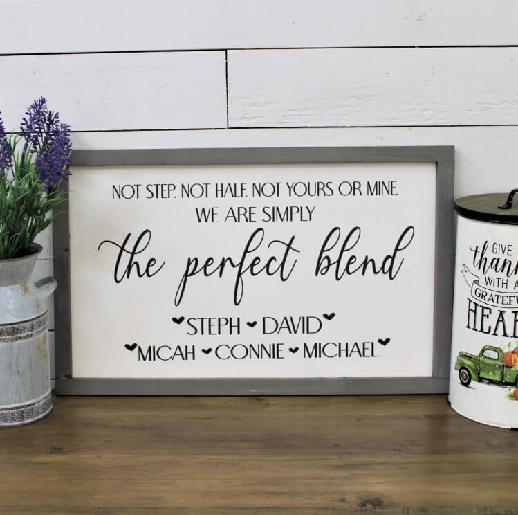 Personalized Blended Family Farmhouse Sign