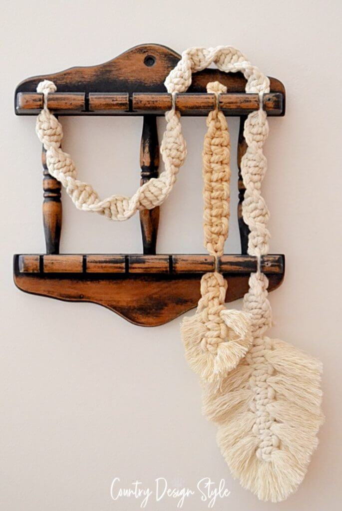 Unique Twisted Rope Accent Macrame Decorations