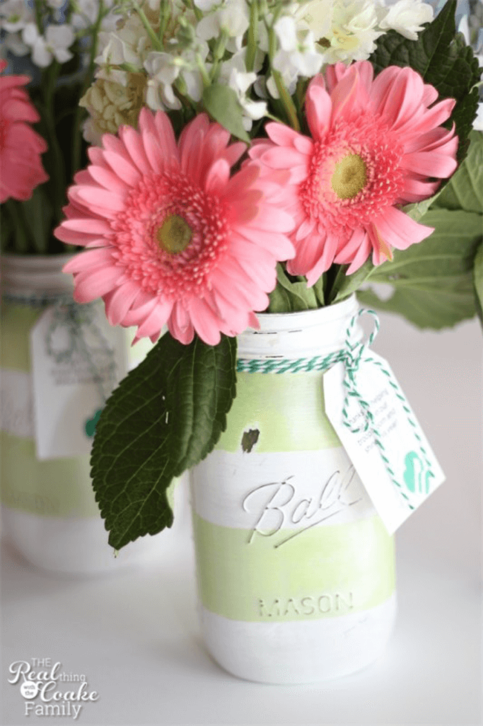 Great Gift Idea Painted Mason Jar Vase
