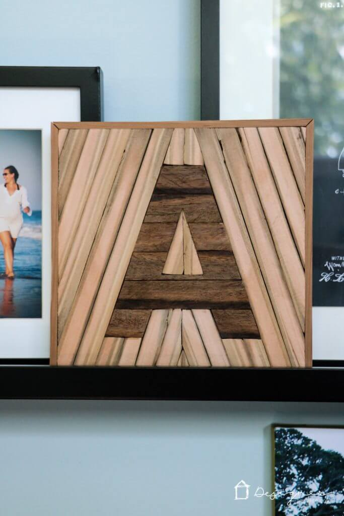 Decorative Mixed Wood Letter Square