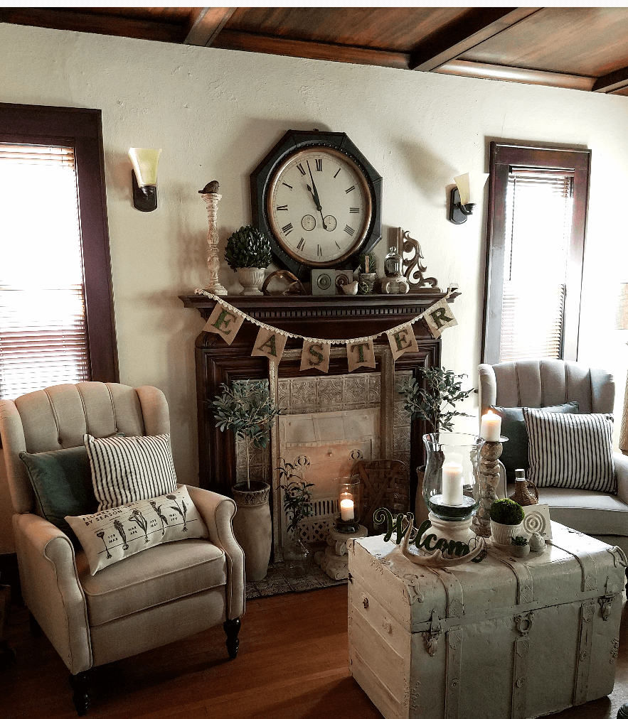 Old World Rustic Charm Living Room