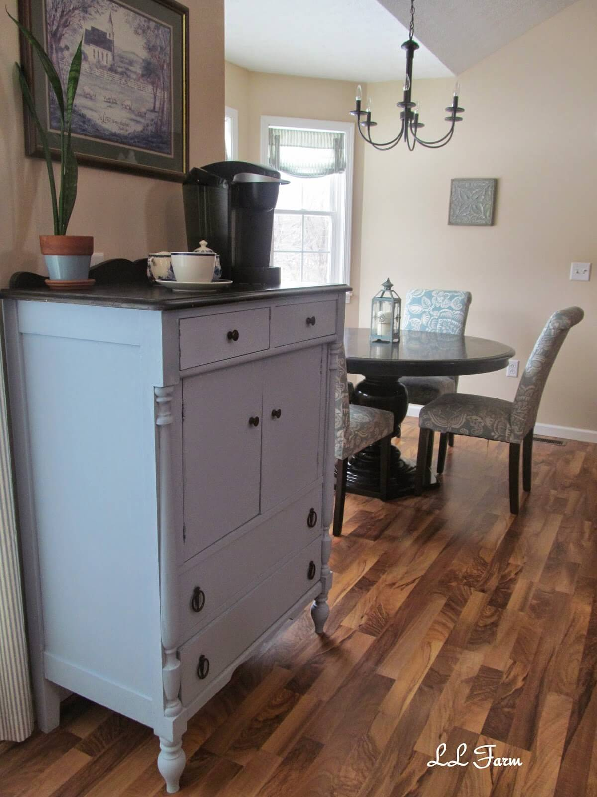 Painted Chest of Drawers Reinvented Coffee Station