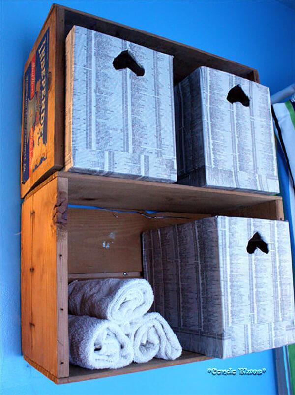 Fruit Crate Floating Display Shelf