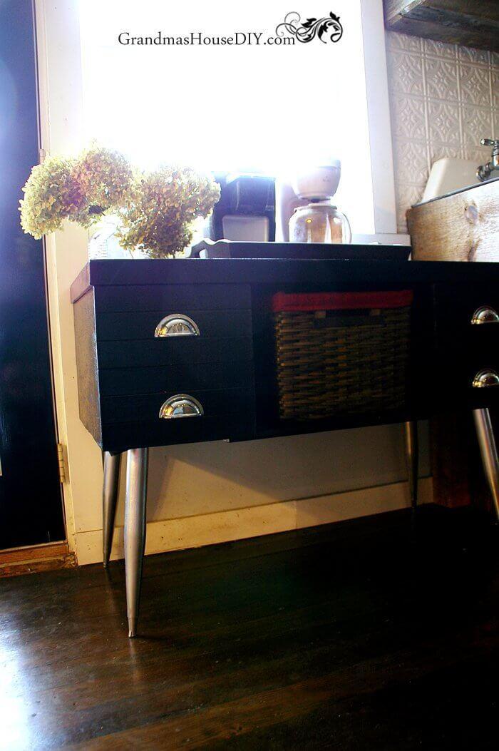 Small Retro Desk Home Coffee Station