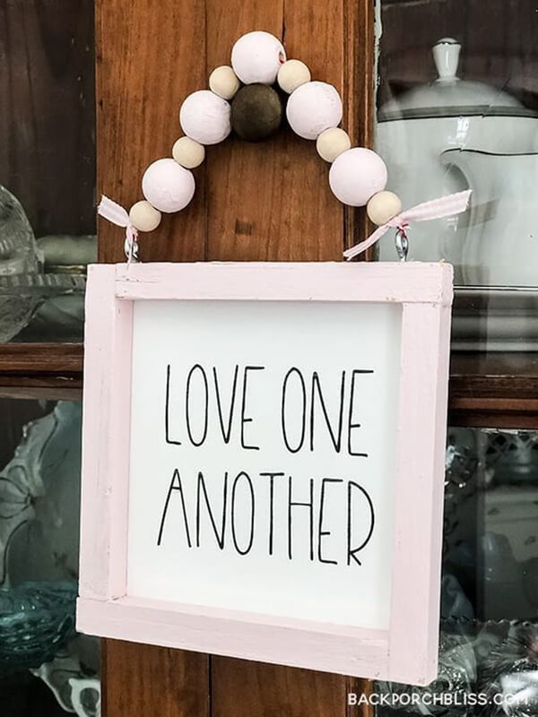 Pretty and Pink Love One Another Sign