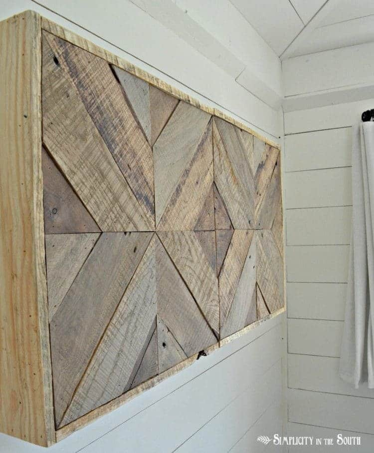 Three Dimensional Wooden Wall Art Piece