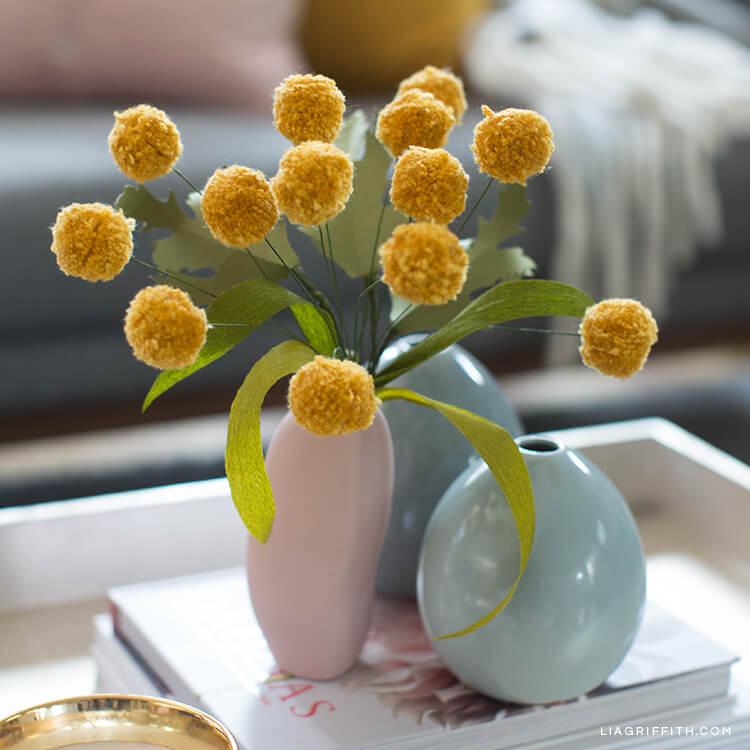 Glorious Goldenrod Pom Pom Flower Bouquet