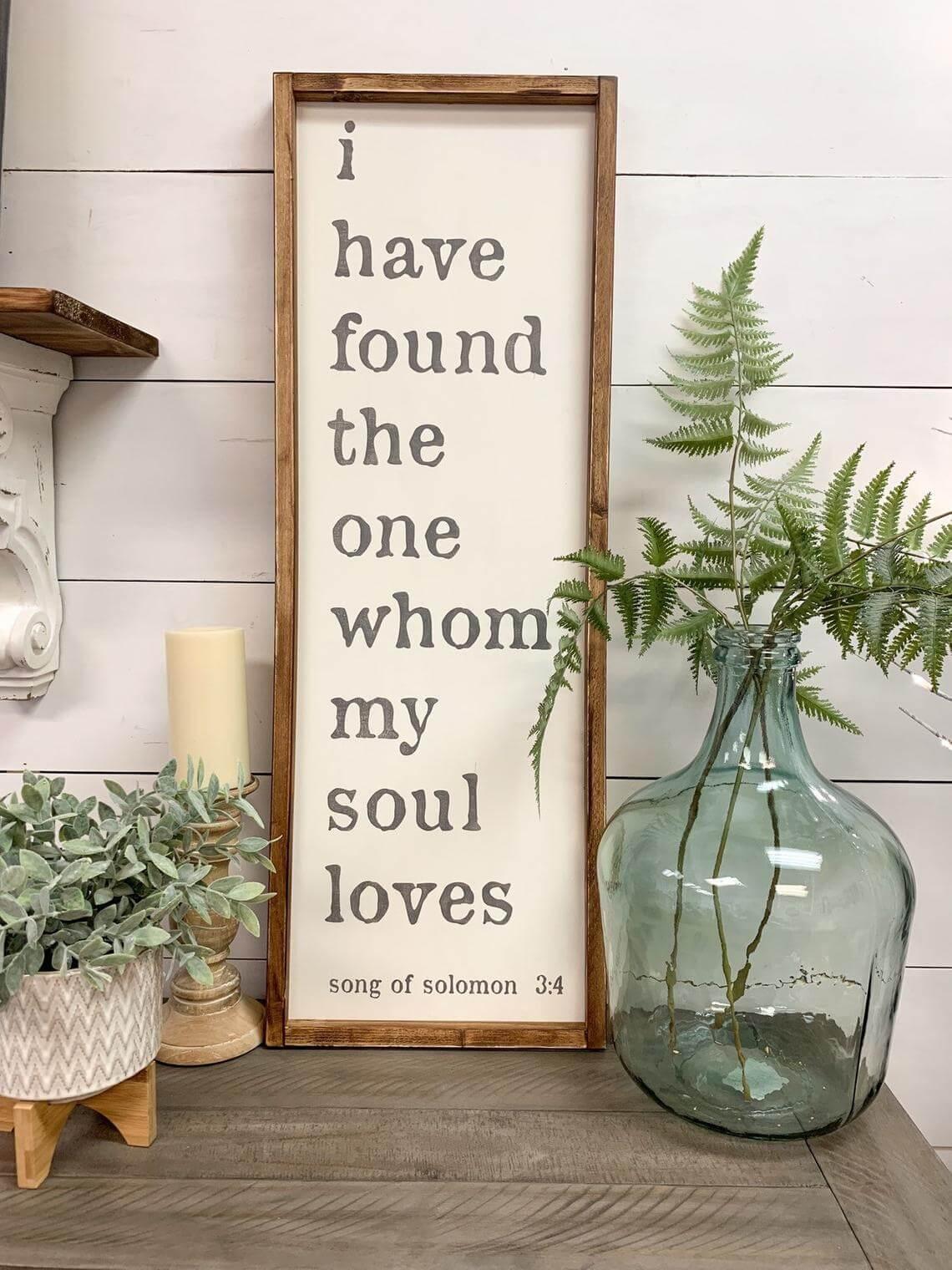 Song of Solomon Romantic Farmhouse Sign