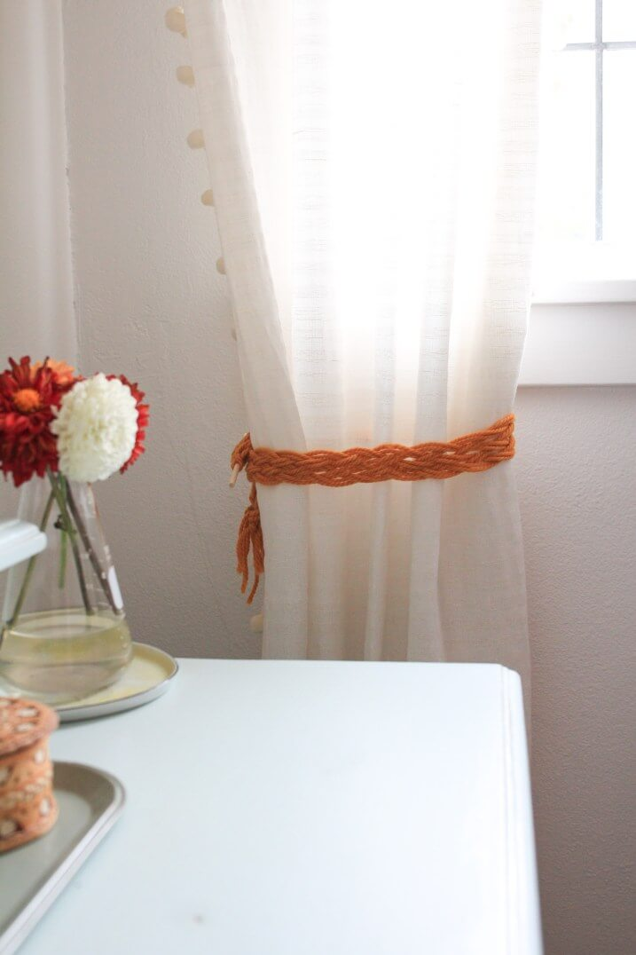 Thick Braided Macrame Curtain Pull Back