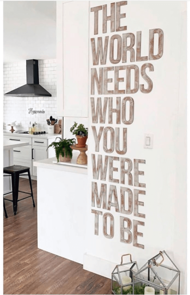 The World Needs You Rustic Letter Art