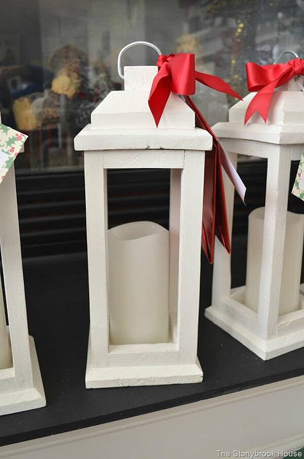 Creamy White Traditional Wooden Lantern