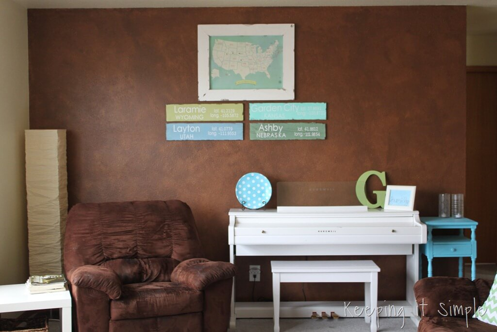 Decorating with Geography Map and Signs