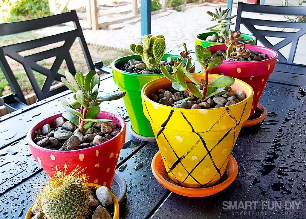 DIY Painted Pots for Summer