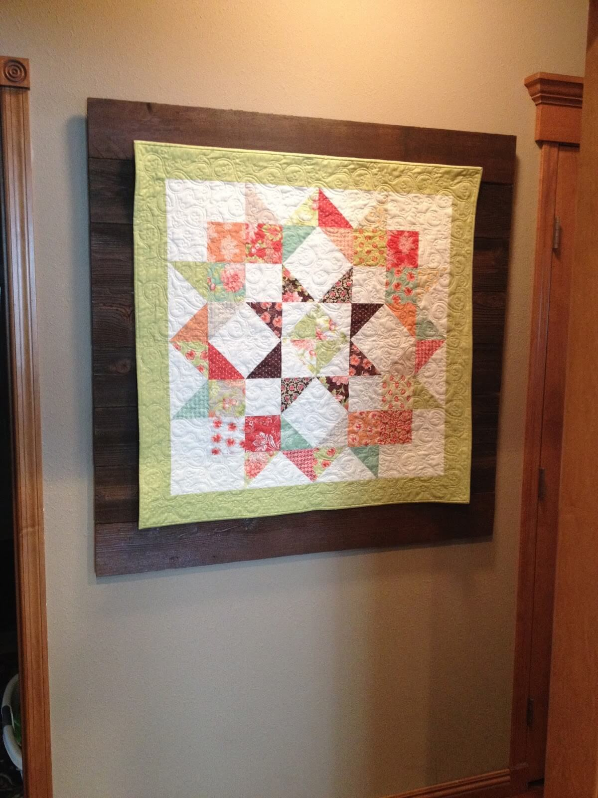 Barnwood Backdrop Quilt Wall Display