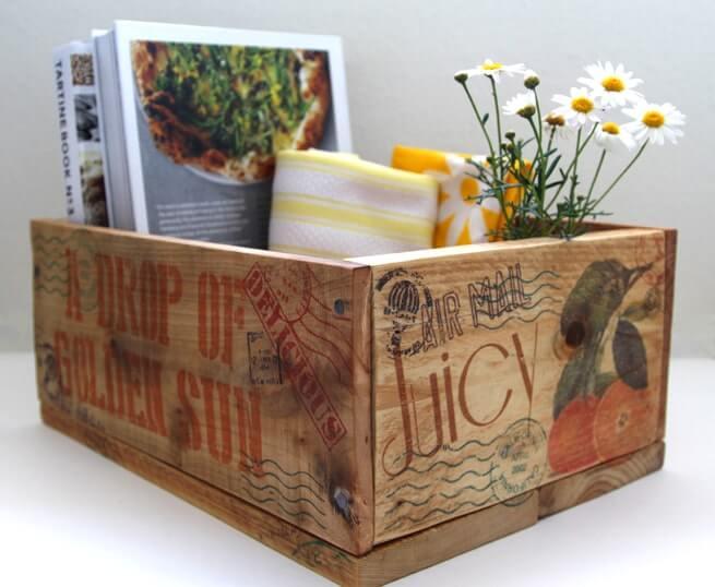 Free Your Bookshelf with a Stylish Storage Box