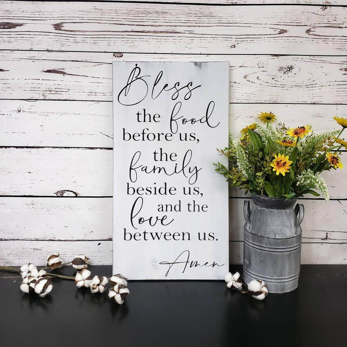 Blessings Around the Table Family Prayer Sign