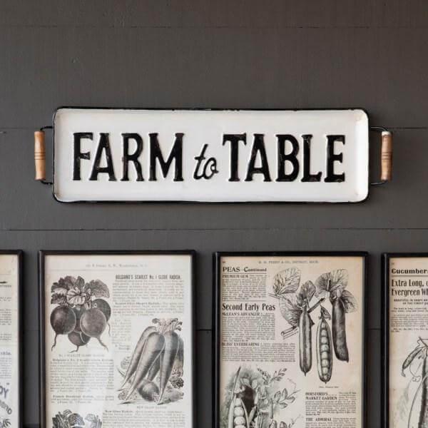 Fresh Goodness Farm to Table Farmhouse Sign