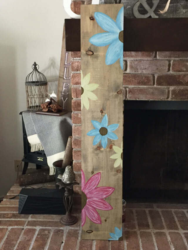 Pretty Petals Hand Painted Board