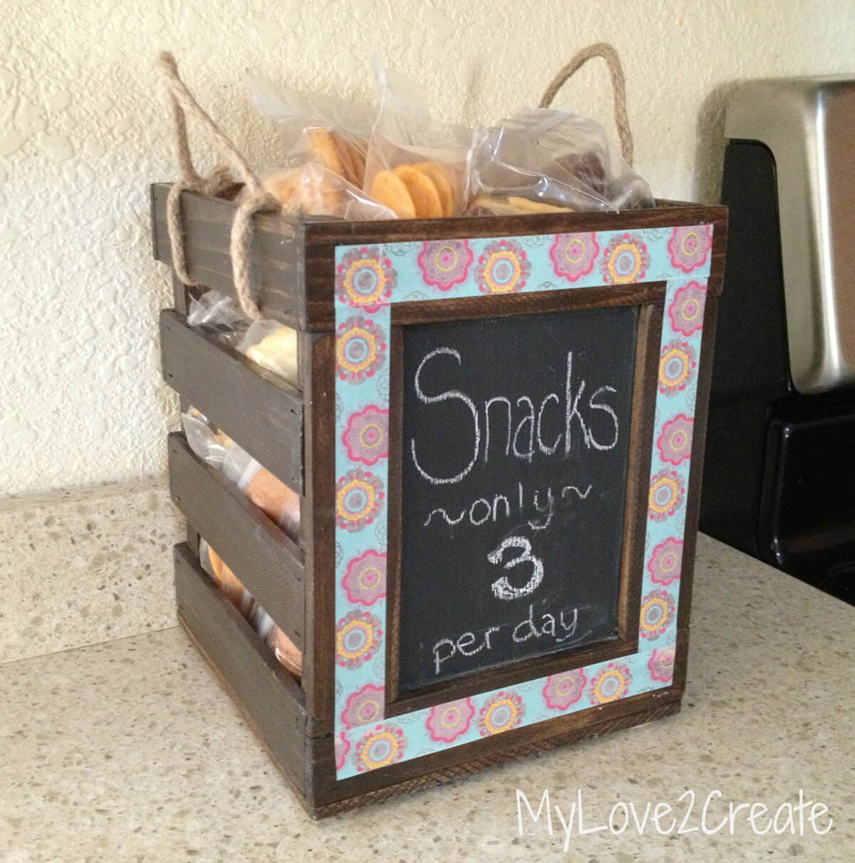 Exotic Wooden Snack Box for Kids