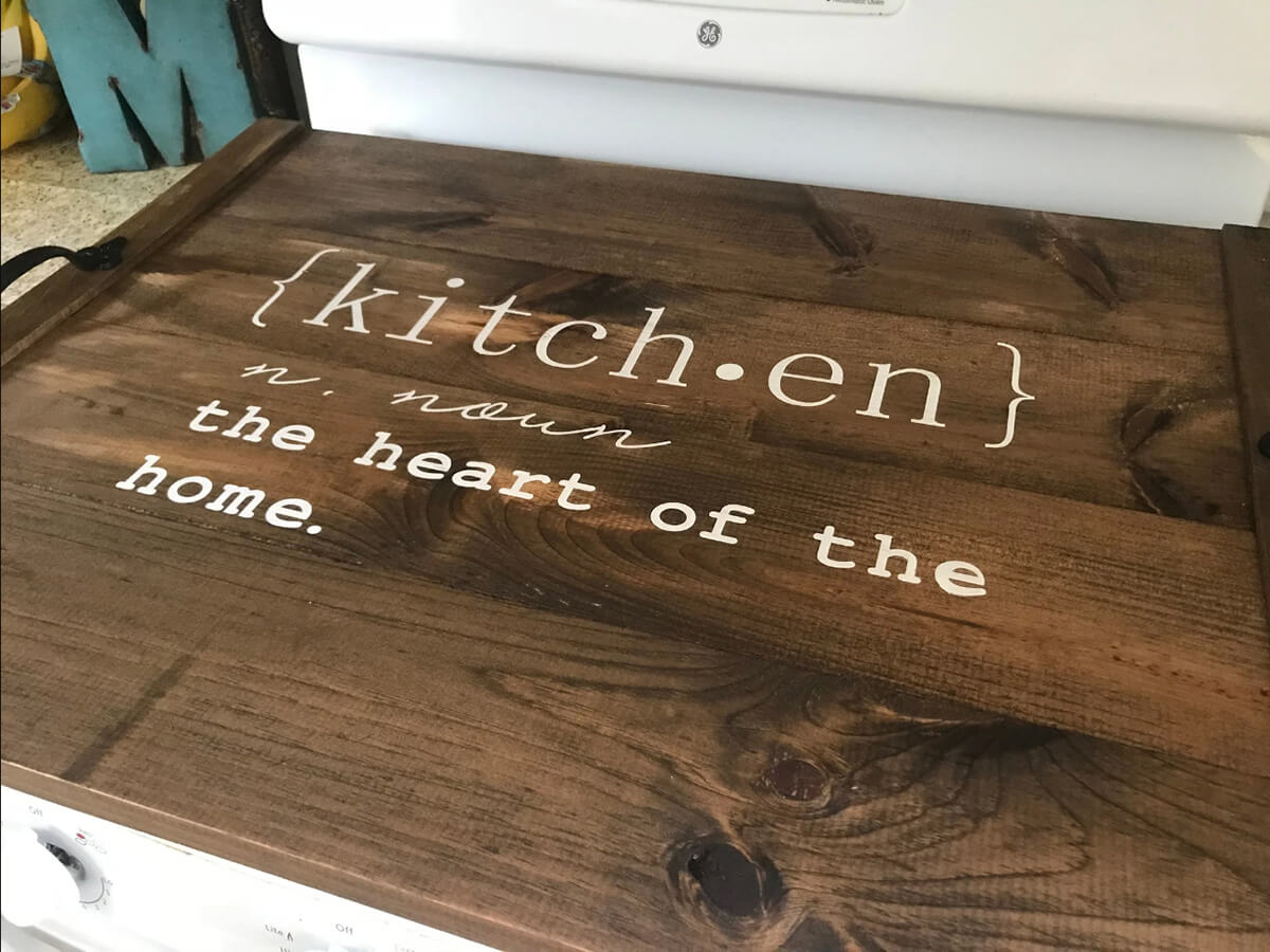 Heart of the Home Wooden Kitchen Tray