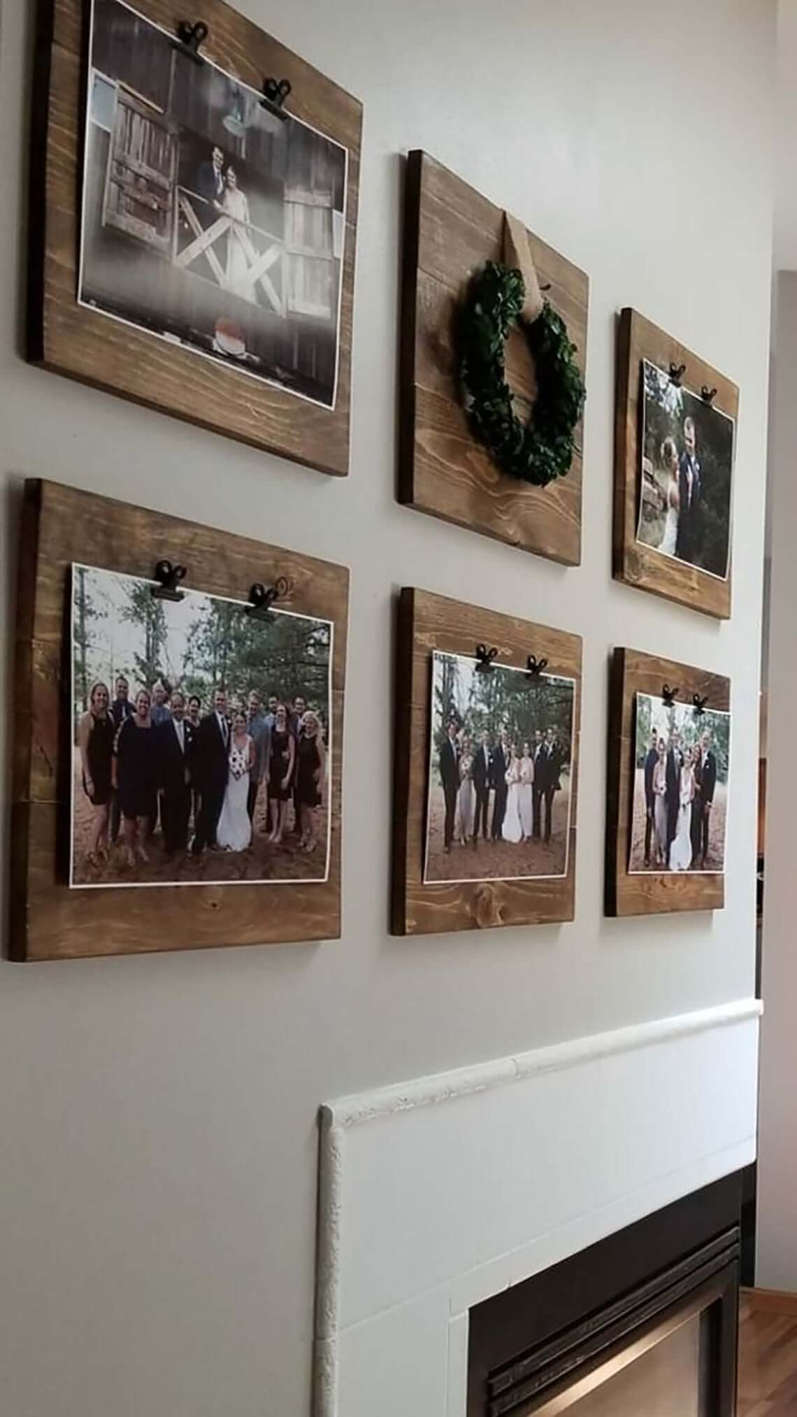 Wooden Squares Decorative Wall Picture Displays