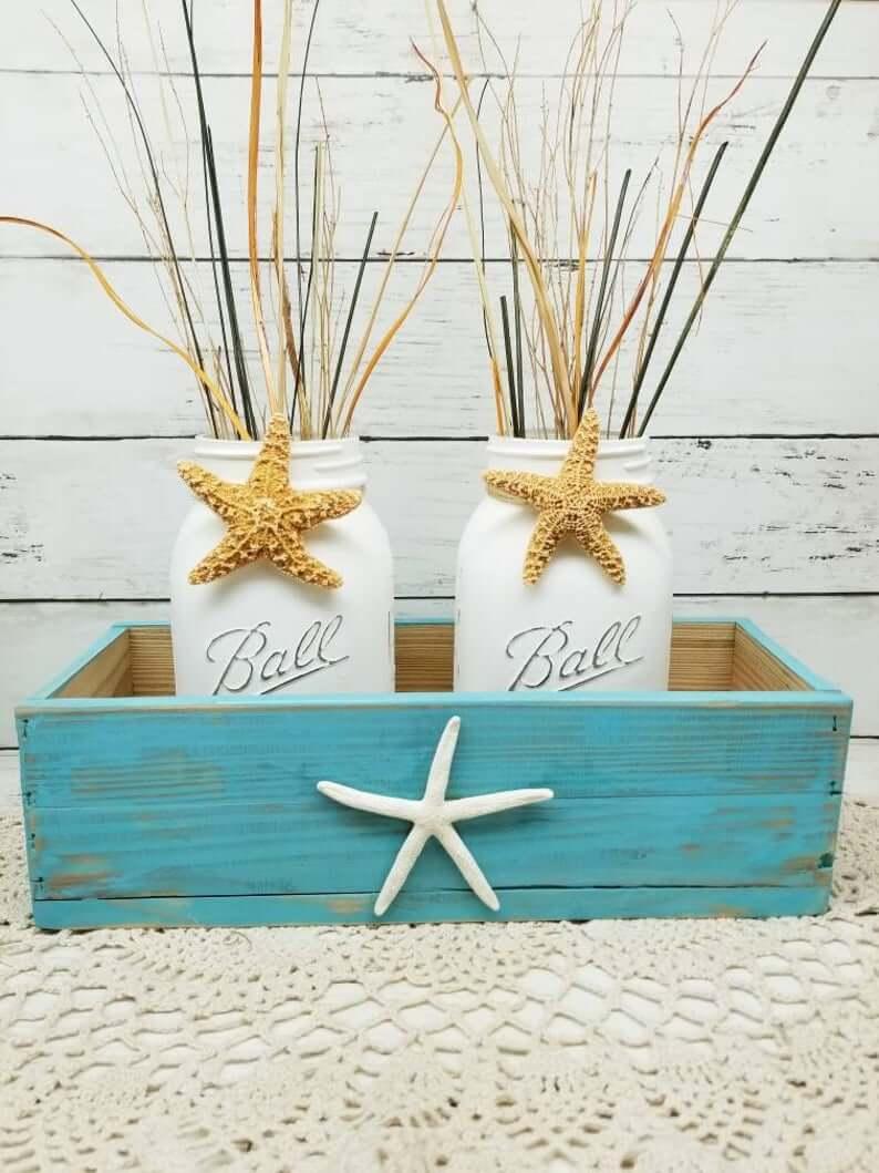 Sea Star Decorative Box and Jar Set