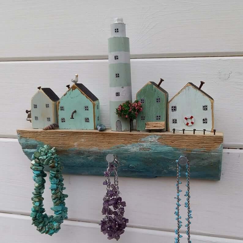 Rough Coastline with Lighthouse Shelf and Hooks