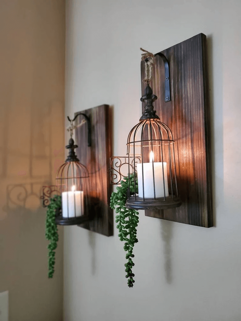 Beautiful and Warm Birdcage Candle Holders