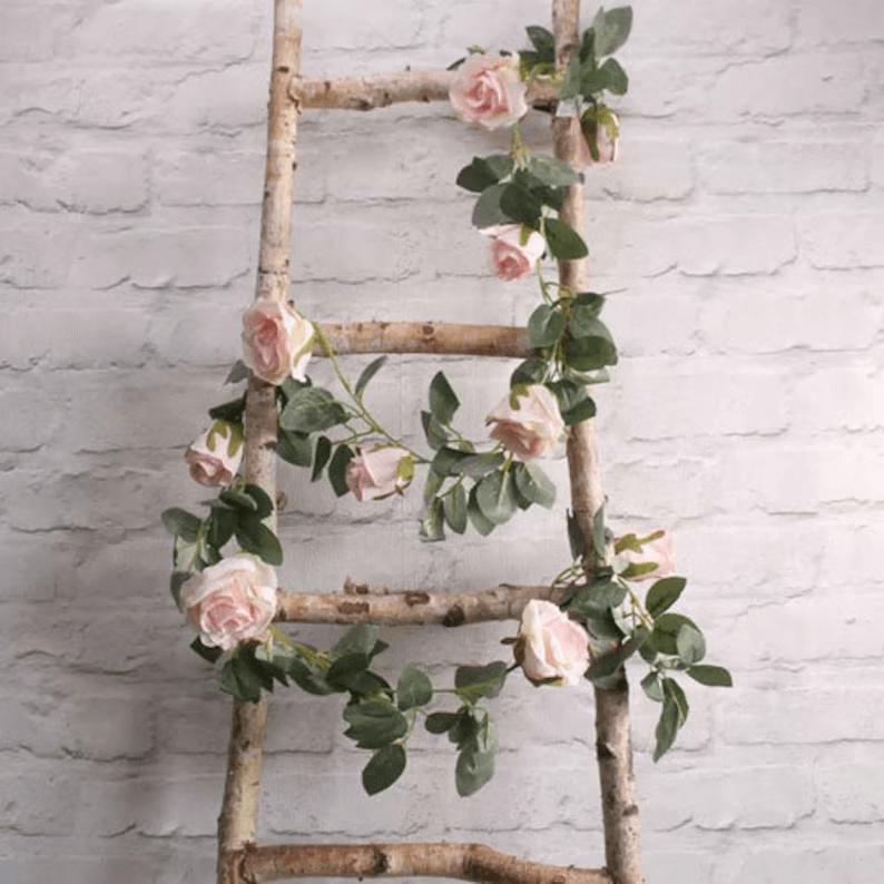 Victorian Romance Blush Pink Flower Garland