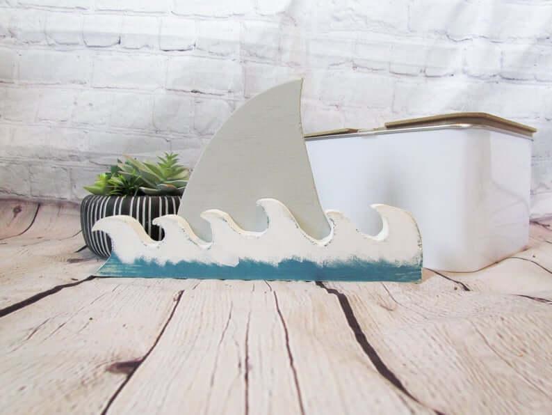 Shark Attack Waves and Shark Fin Decoration