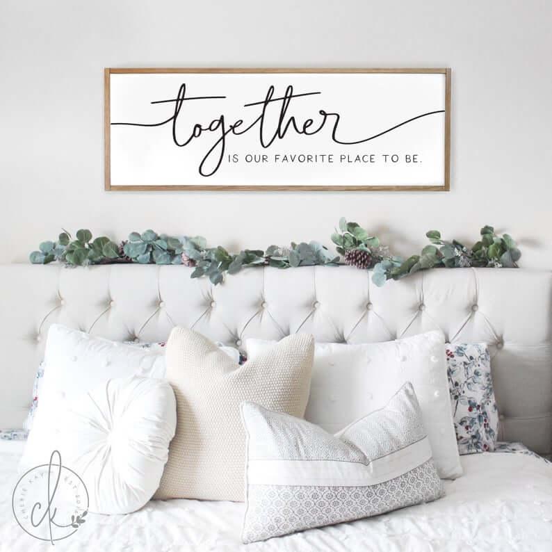 Master Bedroom Together Wall Art Sign
