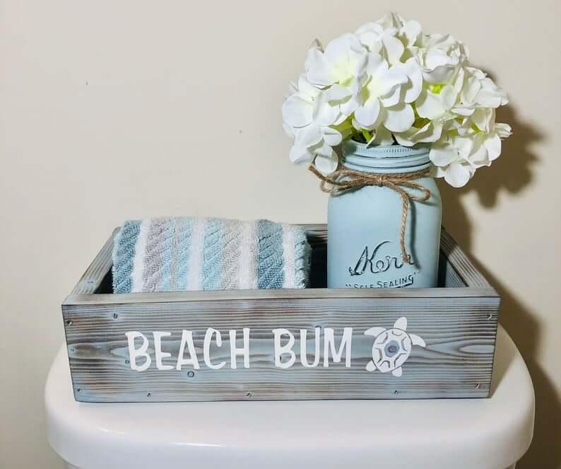 Beautiful Wooden Beach Bum Bathroom Box