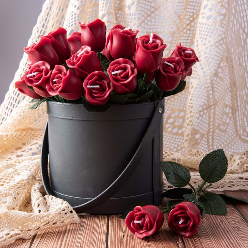 Bouquet of Roses Scented Candles