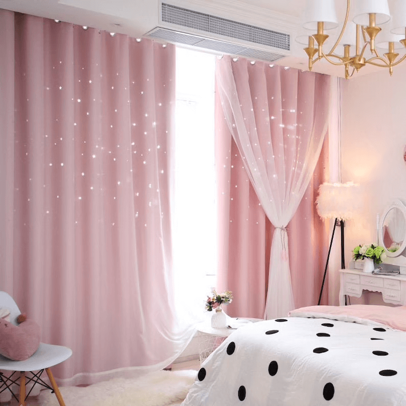 Starry Night Dreamy Bedroom Curtains