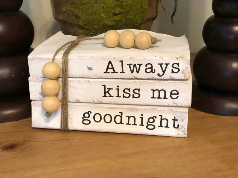 Stamped and Stacked Kiss Me Goodnight Books