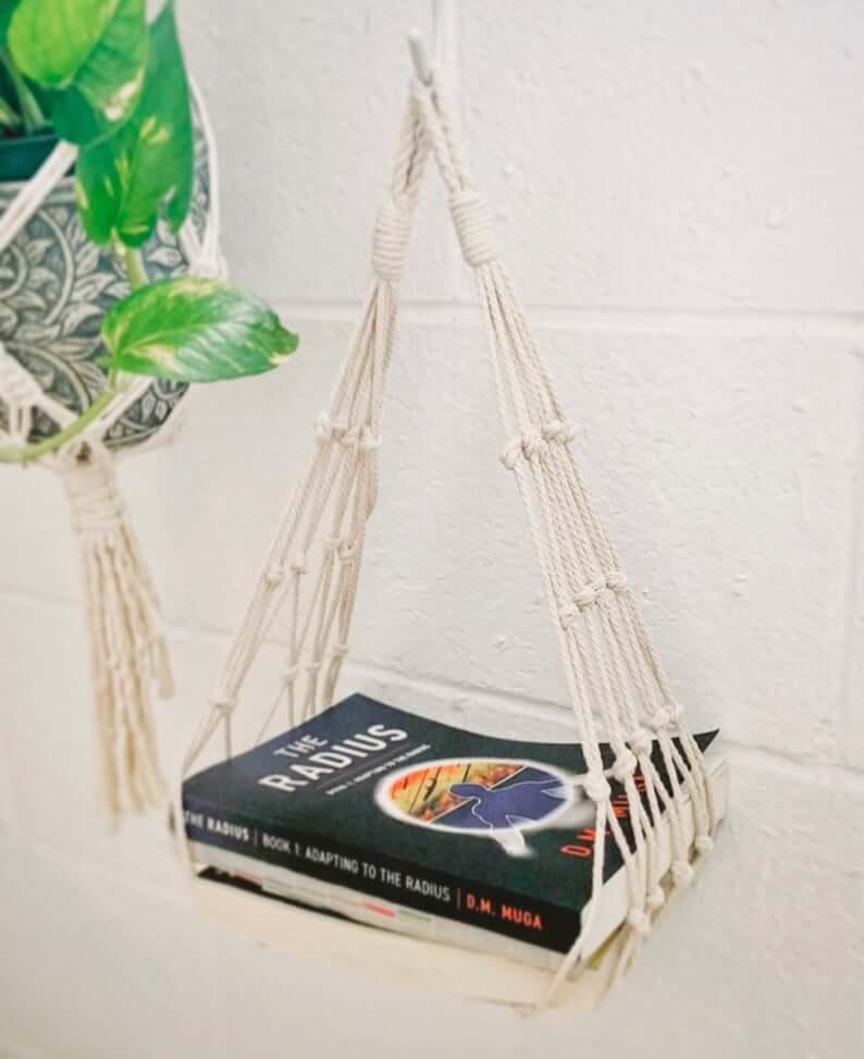 Bohemian Macrame Book Hanger Beach Decor