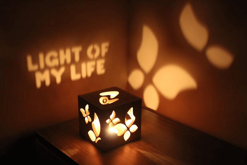 Illuminated Love Box Bedroom Decor