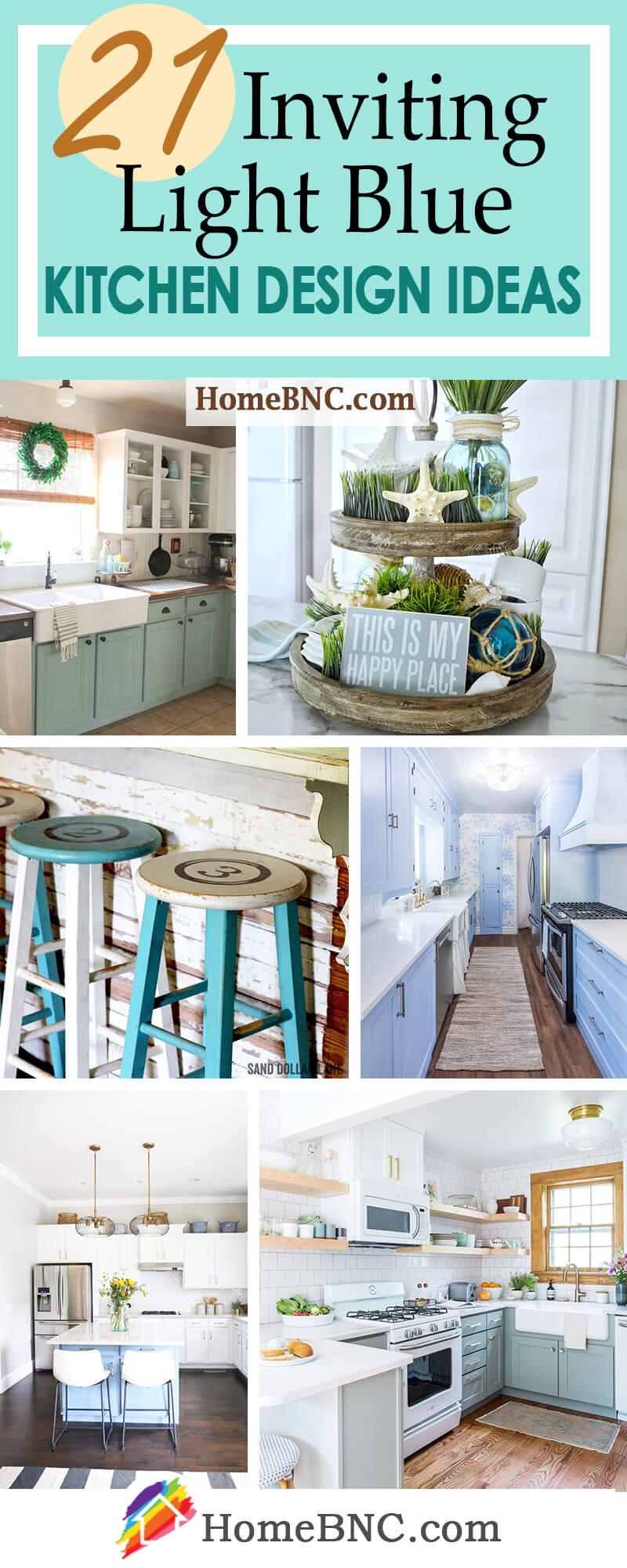 Light Blue Kitchen Design and Decor Ideas
