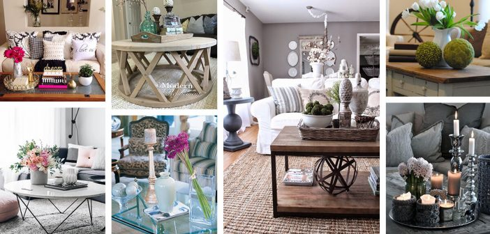 37 Best Coffee Table Decorating Ideas, How To Decorate Small Round Coffee Table