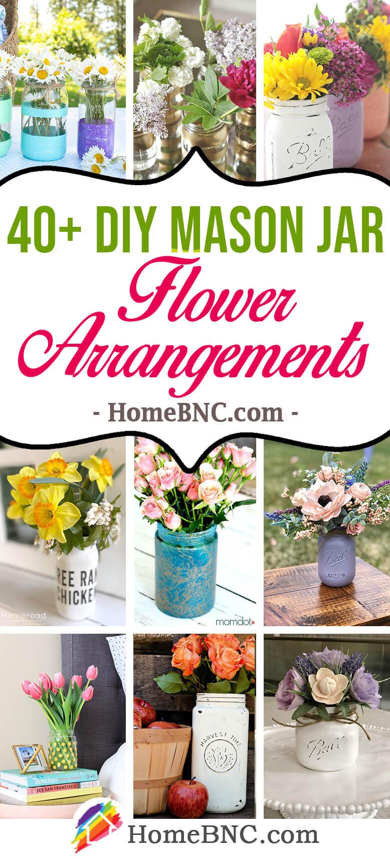 DIY Mason Jar Flower Arrangement Ideas