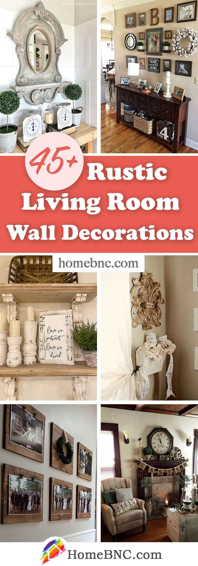 Best Rustic Living Room Wall Decorations