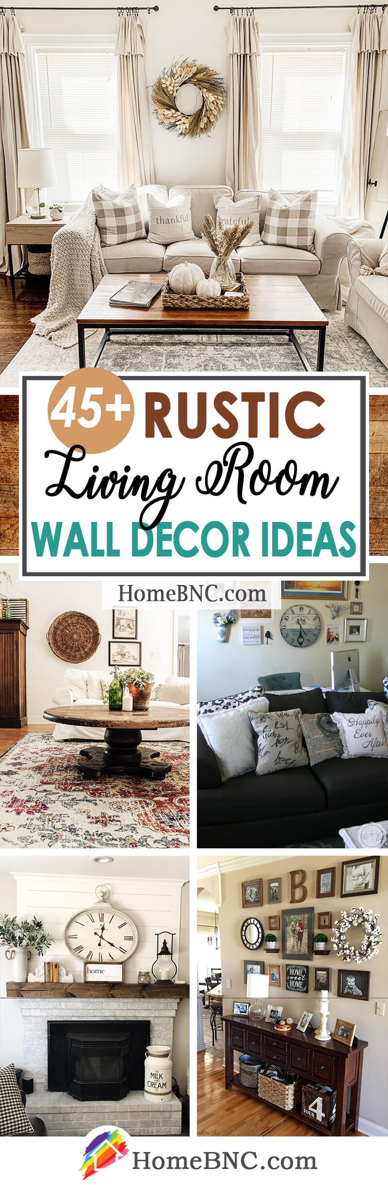 20+ Best Rustic Living Room Wall Decor Ideas and Designs for 20