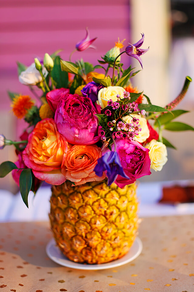 A Ray of Sunshine with a Pineapple Vase