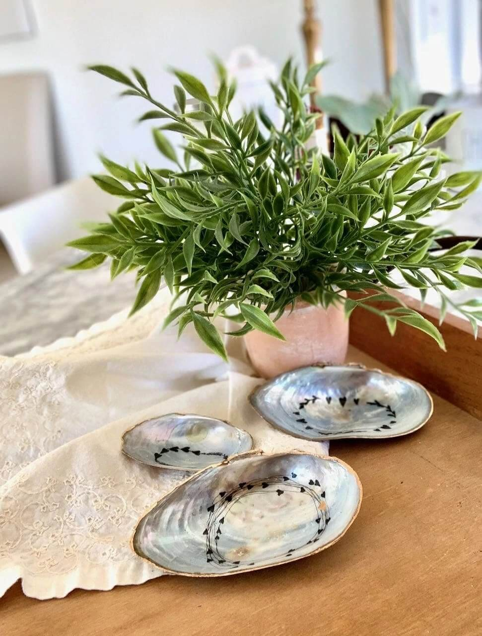 Oyster Shell Decorative Catch-All Dish Trays