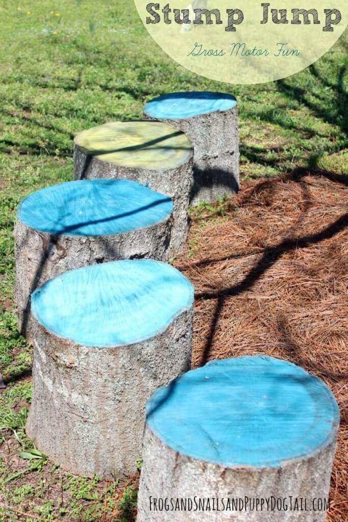 Hopping Stump Jump From Fallen Trees