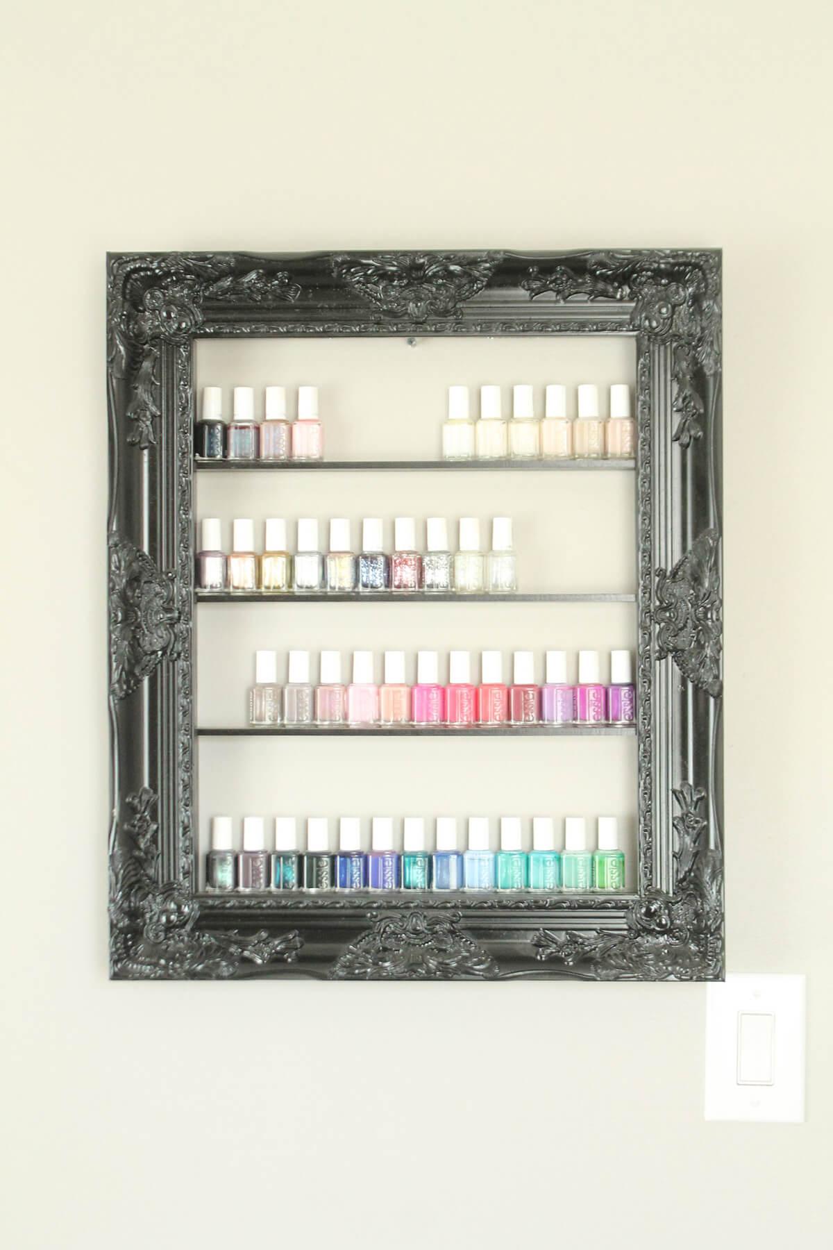 Colorful Nail Polish in an Elegant Frame