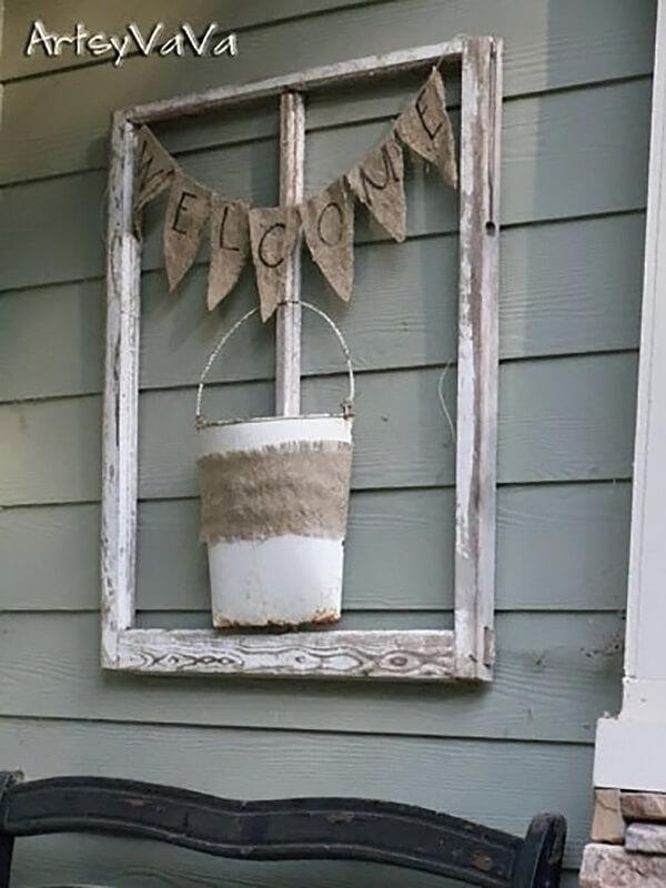 Rustic Outdoor Window Pane Wall Art