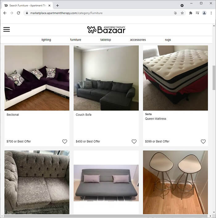Apartment Therapy Bazaar