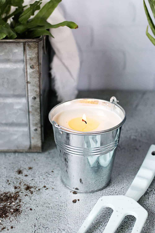 DIY Citronella Patio Bucket Candles